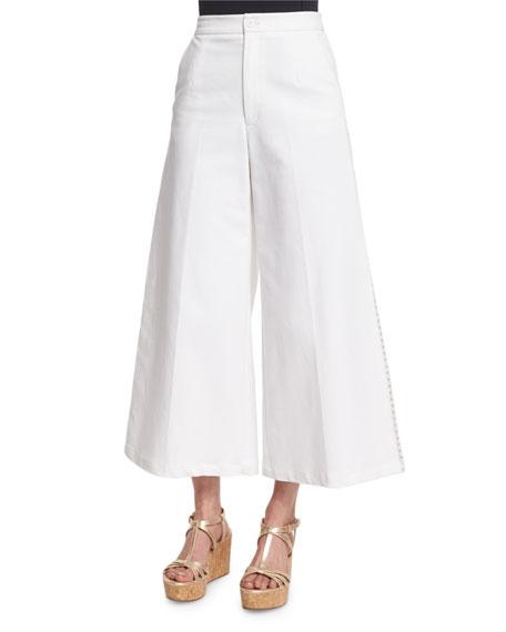 Wide-Leg Crisscross Trousers