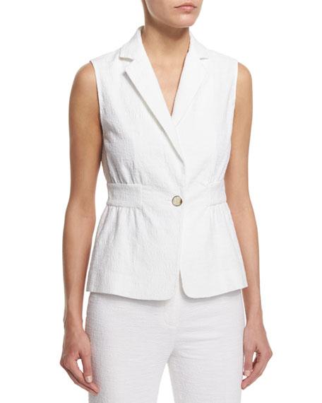 Diane von Furstenberg Gavyn Textured Vest, White
