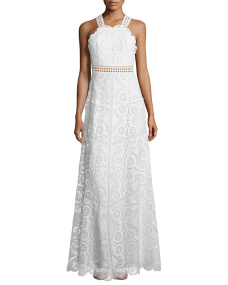 Alexis Eveline Sleeveless Lace Maxi Dress, White