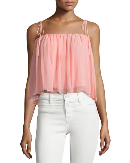 Taura Tie-Shoulder Crop Top