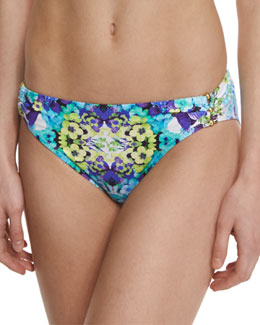 Kamari Reflection Charmer Gathered-Side Swim Bottom