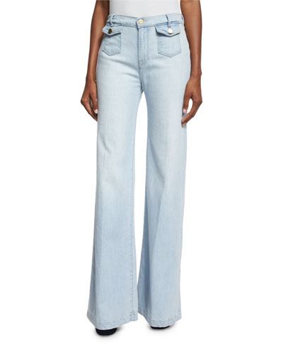 Soho Wide-Leg Trouser Jeans, Jones Beach