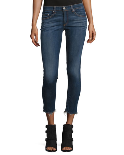 Faded Stretch Denim Capris, Orson