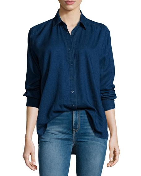 Pacific Long-Sleeve Button-Front Shirt, Enrichment