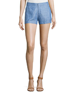 Merci Chambray Linen Shorts