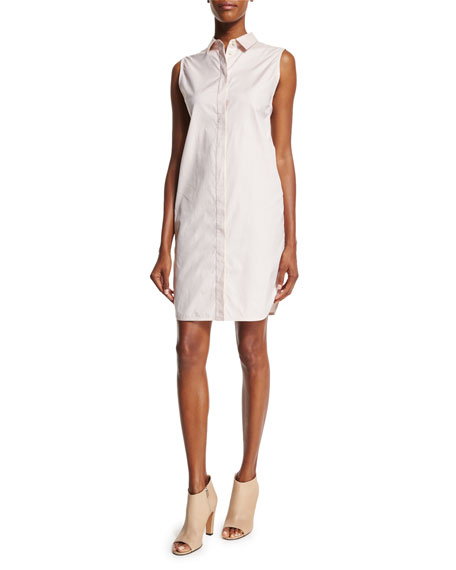 3.1 Phillip Lim Sleeveless Overlay-Back Shirtdress, Blush