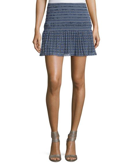 Tayte Square-Print Mini Skirt