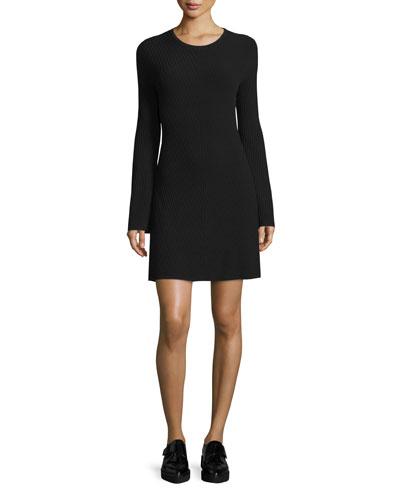 Ardesia Prosecco Directional-Rib Sweater Dress