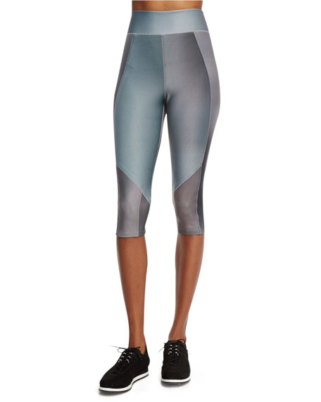 James High-Waist Micro Mesh Sport Leggings, Multicolor