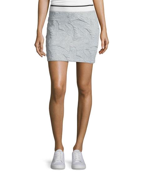 rag & bone/JEAN Leaf-Quilted Miniskirt