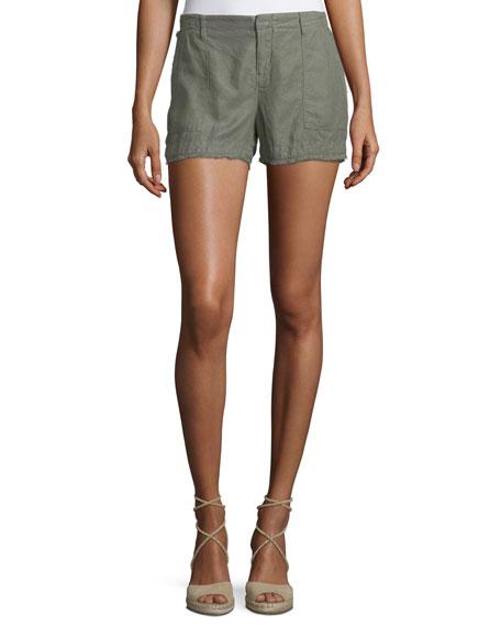 Alek Linen-Blend Shorts