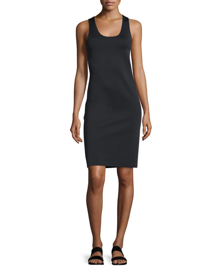 Helmut Lang Neoprene Racerback Sheath Dress, Black