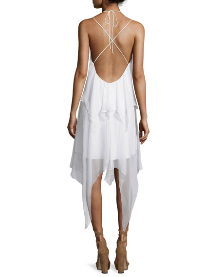 Love Me Tonight Silk Handkerchief Dress, Vintage