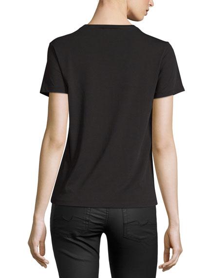 Light Single Jersey Tiger T-Shirt, Black