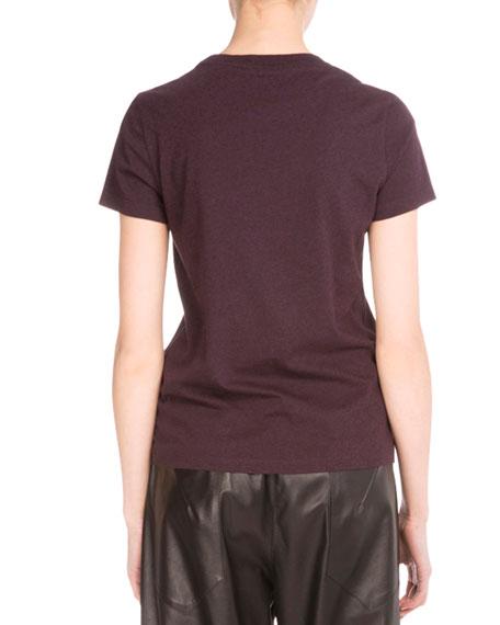 Light Single Jersey Eye T-Shirt, Maroon/Pearl