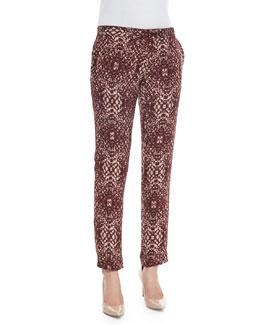 The Tailored Slim Shady Pants, Shadow Snake Merlot