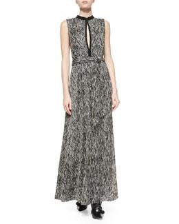 Ramon Mock-Neck Knot-Waist Dress