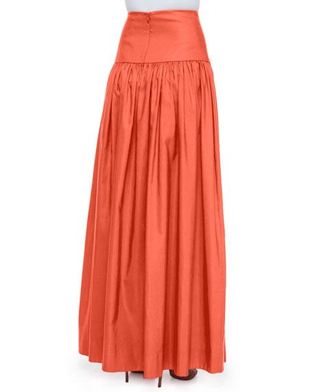 Musan High-Waist Maxi Skirt, Tangerine