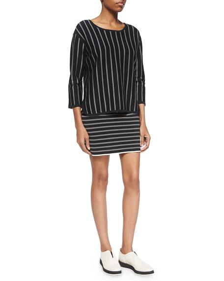 Regan Striped Pencil Skirt