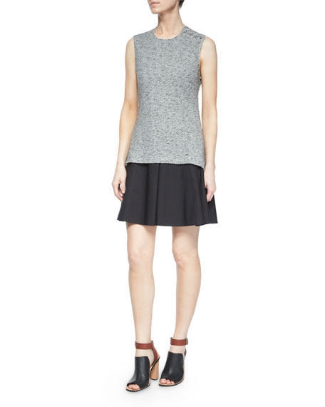 10 Crosby Derek Lam Sleeveless Cutout-Back Flared Skirt
