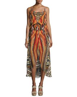 Chiapas Dance Embellished Coverup Dress, Multi Colors