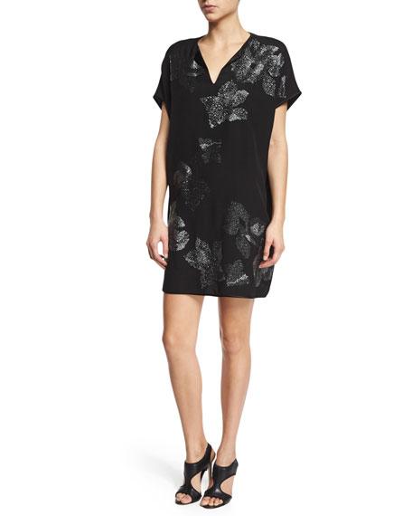 Kora Sleeveless Beaded Gown, Black