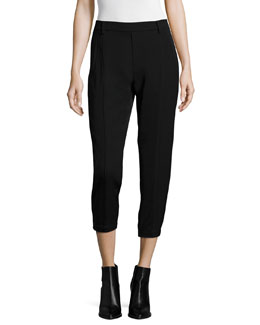 Relaxed Trousers W/Satin Piping