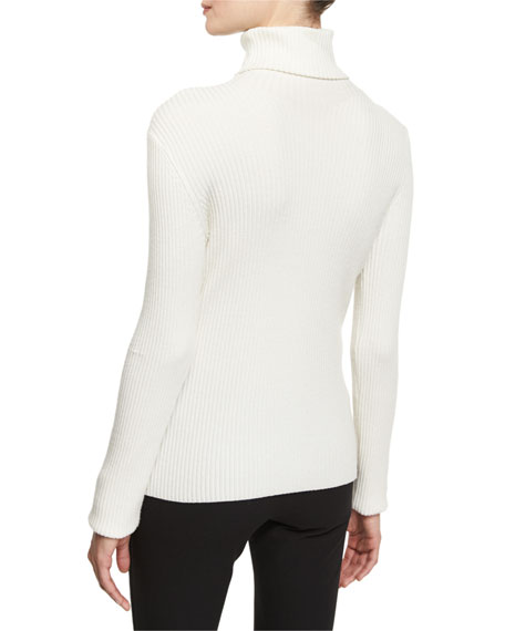 d8291e444d7e 3.1 Phillip Lim Long-Sleeve Ribbed Turtleneck Sweater   Belted ...