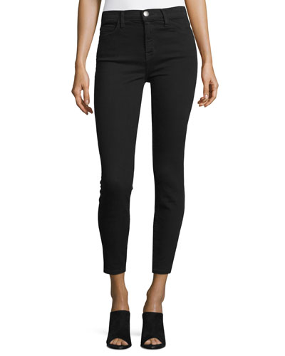 The Stiletto High-Waist Ankle Jeans, Jet Black