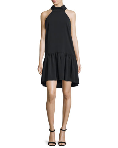 Katelyn Halter-Neck A-Line Dress, Black