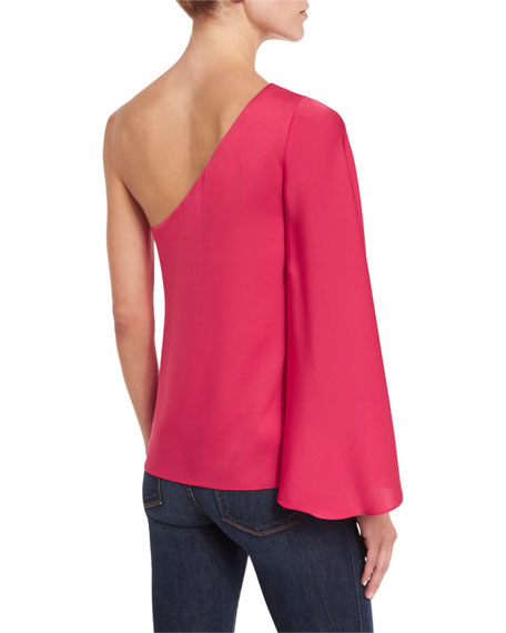 Tori One-Shoulder Top, Rose