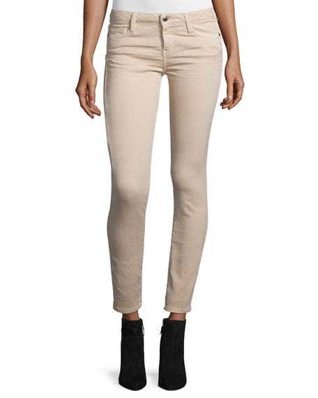 Jarodcla Stretch Denim Ankle Jeans, Nude