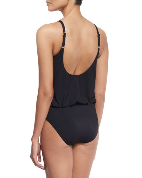 Lattice Blouson One-Piece Swimsuit