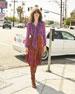 Melita Suede & Silk A-Line Midi Skirt
