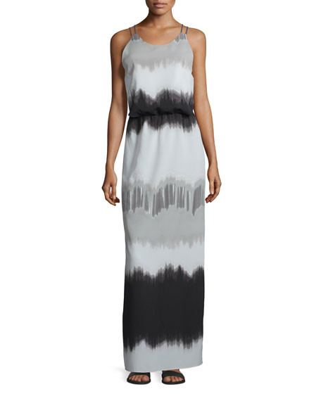 Sleeveless Printed Maxi Dress, Vapor