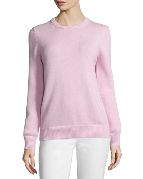 Cotton/Cashmere Long-Sleeve Sweater