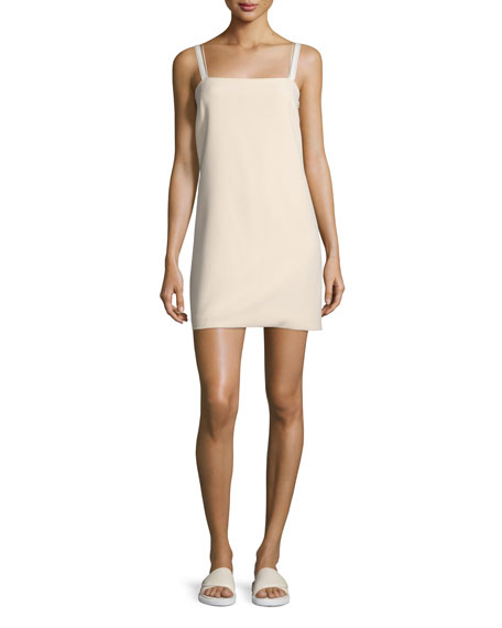 Sleeveless Ponte Shift Dress, Shell