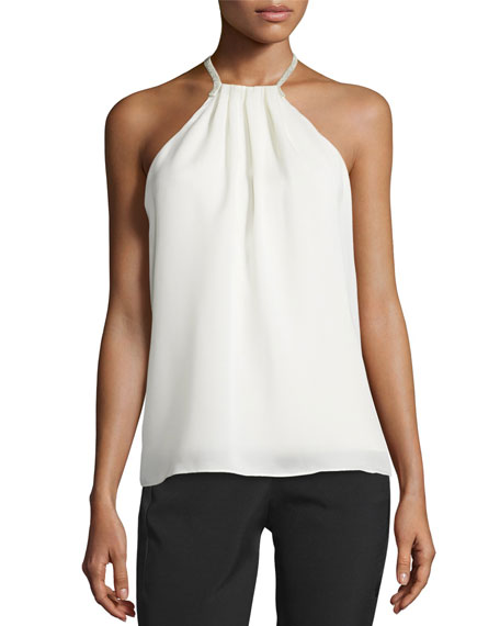 Halter-Neck Top w/ Crossover Chain Back