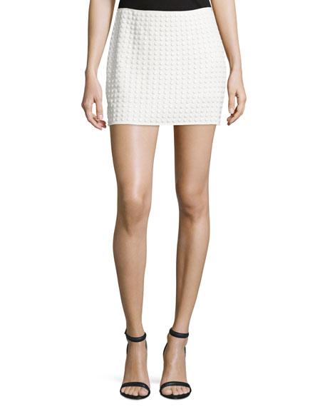Embellished Mini Skirt, Swan