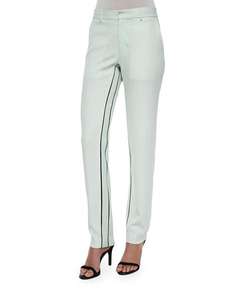Moodie Crepe Trousers, Ceramic Green