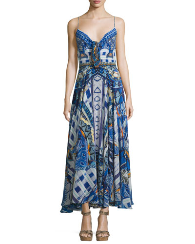 Embellished Tie-Front Coverup Dress, Rhythm & Blues