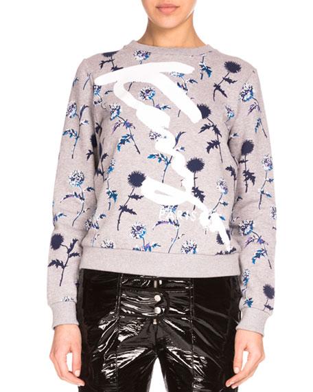 8abd2e64 Kenzo Dandelion Crewneck Pullover Sweatshirt, Pale Gray
