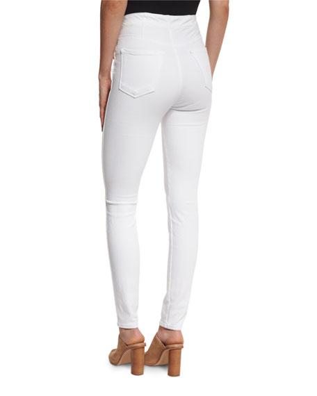 Natasha High-Waist Skinny Jeans, White
