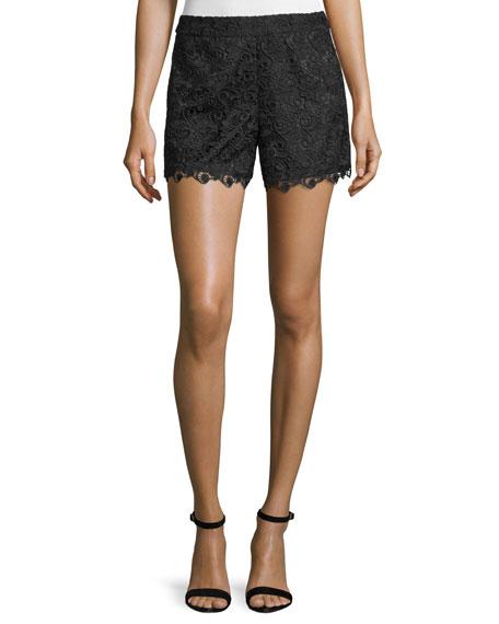 Amaris High-Waist Lace Shorts
