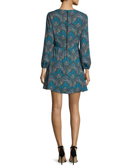 Cary Paisley V-Neck Minidress