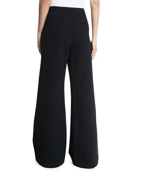 Ariana Wide-Leg Trousers, Black