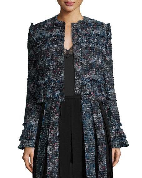 Diane von Furstenberg Katrin Fringe-Trim Tweed Jacket,