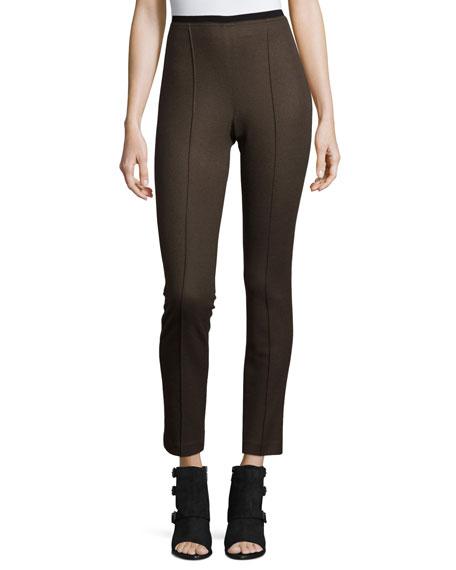 Club Wool Skinny Pants, Army Green