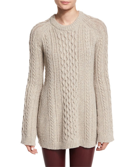 Theory Lewens Loryfelt Cable Knit Sweater Adbelle L2 Bristol