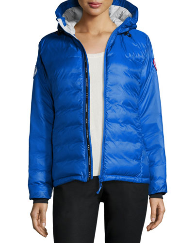 Camp Hooded Packable Puffer Jacket  Royal Blue